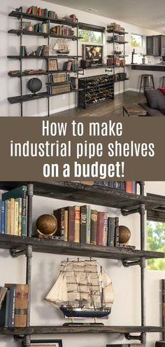 Learn how to build this impressive industrial pipe shelving the easy way! We
