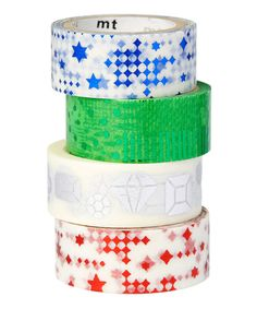 Look at this Four-Piece Metallic Geometric Tape Roll Set on #zulily today!