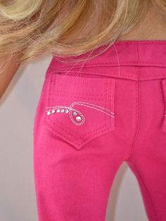 18 inch American Girl  Doll Clothing Skinny by Simply18Inches-- love the pocket design!