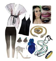 """Egyptian Outfit"" by hellenrose7292 on Polyvore featuring PierAntonio Gaspari, Fleur du Mal, Pepper & Mayne, Giuseppe Zanotti, Issey Miyake, Silvia Furmanovich and Royal Nomad Jewelry"