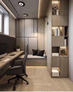 Trendy Home Office Contemporary Study Rooms Home Office Space, Home Office Design, Home Office Decor, Home Interior Design, Interior Architecture, House Design, Home Decor, Office Ideas, Studio Interior