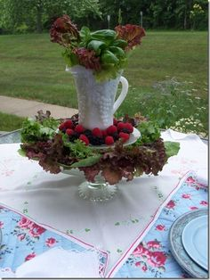 play with your food tables for a baby shower themed MR McGREGOR's GARDEN