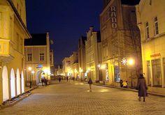 Klaipeda. night scene - Klaipeda, Klaipedos