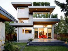 Graphique et lumineuse avec toutes ses baies vitrées, ses terrasses   <3 <3 <3    http://www.crdecoration.com/blog-decoration/decoration/maison-moderne-et-deco