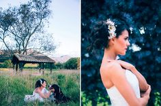 Editorial de bodas Al Natural. Ideas para tu boda estilo campestre -- Editorial de novias. Bridal Editorial -- Fotografías: Happic Photo Group -- Vestido de Novia: Rosa Clará