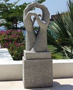 Engage Modern Art Stone Statue   Large Garden Sculpture. Buy Now At Http:/