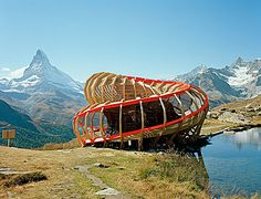 Evolver is an architectural artefact intervening on the panorama surrounding Zermatt. It was designed and executed by a team of 2nd year students from the ALICE Studio at Ecole Polytechnique Fédérale de Lausanne (EPFL) , Switzerland.