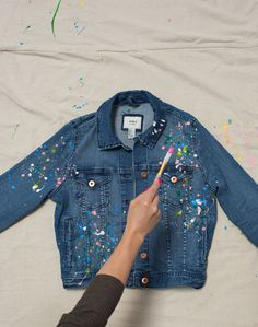 Am I in the wrong decade, because I'm REALLY enjoying this splatter paint jacket