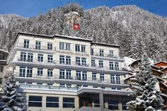 Contemporary design and unusual architecture for demanding travellers. Adelboden, Hotel Meeting, White Building, Mountain Village, Natural Scenery, Garden Pool, Boutique Design, Workout Rooms, Winter Fun
