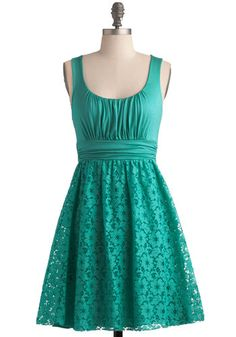 Artisan Iced Tea Dress in Spearmint, #ModCloth