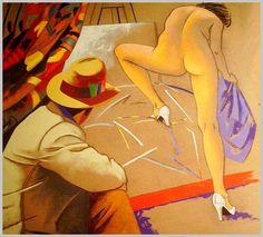 Eduardo Urculo  - Pintor y escultor ESPAÑA (1938 - 2003)