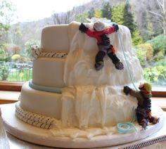 Ice climbing wedding cake