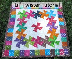 Lil' Twister Tutorial at Freemotion by the Rivee.g.  This is for cuz Carol and all her polka dots!!!