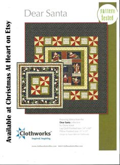 Dear Santa Quilt and Pillow Kit with quilt backing