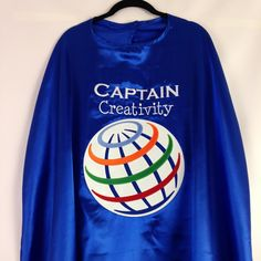 """Make the logo as big as you can."" You got it. #cape #superhero #creativity #Everfan #hero"