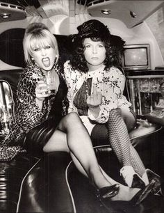 Joanna Lumley and Jennifer Saunders as Patsy and Edina in Ab Fab