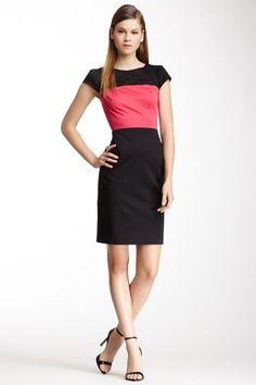 Black & Pink Colorblock Dress.