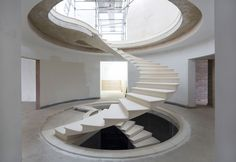 See The Engineering Behind This Floating, Award-Winning Stone Helical Stair, Courtesy of Webb Yates Engineers
