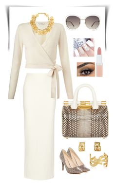 """""""Untitled #221"""" by gorgeouslor on Polyvore featuring Alice + Olivia, Miss Selfridge, Tyler Alexandra, Chanel, Yves Saint Laurent, Nine West, Chloé and Rimmel"""