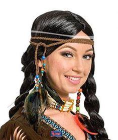 ureinwohner indianer feder kopfschmuck stirnband braun boho krieg bonnet v50 fotografie. Black Bedroom Furniture Sets. Home Design Ideas