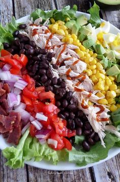 All it takes is a few minutes of chopping and cutting. BBQ Chicken Cobb Salad.