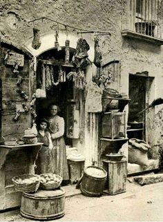 "John Cooper Ashton (1880-1935) ""A shop in Torre dei Passeri"" 1903-1904"
