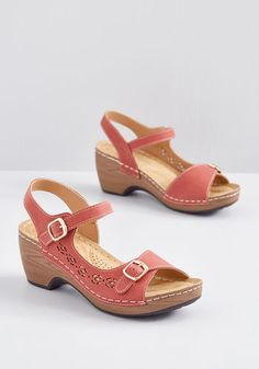 aa4d2314a28d Sunny Comforts Sandal Dark Red Red Sandals