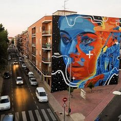 "Stunner by @dourone ""Un Mundo Posible"" for MAP fest 2016 in Torrijos, Toledo, Spain #dourone"