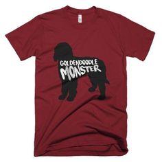 Goldendoodle Monster - Short Sleeve Men's T-Shirt