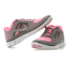 Nike | FREE RUN+ 3 Natural Running Schuhe Damen | pink-silver-grey