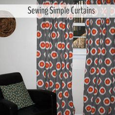 Do you want to make simple custom curtains for your new home or decorating project? This tutorial for sewing simple curtains is easy enough for beginners.