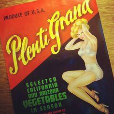 Sexy vintage label for vegetables.