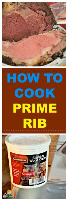 Step by Step Instructions for making the Succulent Prime Rib for your holiday table or special celebration dinner with an indoor smoker and your oven. Prime Rib Soup, Prime Rib Au Jus, Smoked Prime Rib, Prime Rib Roast, Prime Rib Seasoning, Prime Rib Sandwich, Cake Ball Recipes, Ribeye Roast, Cooking Prime Rib
