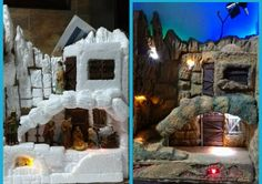 Diorama cuadro 21 cm x 30 cm. Pesebre Belenismo. Base icopor. Versión 1. Figuras de 4 cm Diorama, Mount Rushmore, Diy And Crafts, Base, Mountains, Nature, Travel, Births, Nativity Sets