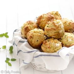 These zucchini feta cheese muffins don't contain butter and only have 3 tablespoons of extra virgin olive oil. Zucchini keeps them moist