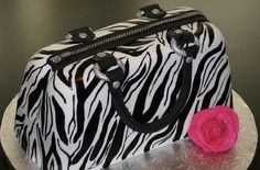 Zebra purse - this is a cake.  Made in Seward, Nebraska.  A business that opened in 2011.  It would be fun to eat this!