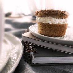 Low Carb Vanilla Muffin mit Creme-Füllung