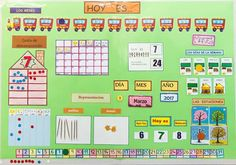 Calendario abn Class Decoration, School Decorations, Creative Activities, Preschool Activities, Class Displays, Transitional Kindergarten, Grande Section, Circle Time, Baby Development