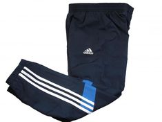 Adidas childrens navy blue climalite woven tracksuit pant bottom Joggers Age 7-8 #adidas #TracksuitTrousers