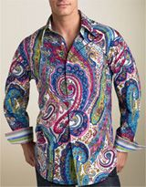 This has got to be the ultimate paisley shirt!  WOW!  Paisley was a popular print for both men and women in the 60's.