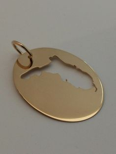 Sunshine State, in a 14k Yellow Gold Pendant, Handmade in Maine by HarvestGoldJewelry on Etsy https://www.etsy.com/listing/203987388/sunshine-state-in-a-14k-yellow-gold