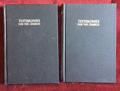Ellen G White Duo: Testimonies for the Church Volumes 1 and 4 Black HB 1948 SDA