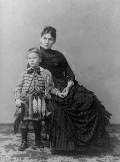 Young Franklin D. Roosevelt and Mother