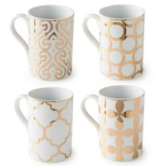 Rosanna Luxe Moderne Mugs Set of 4