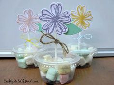 Flower Party Favors / Cupcake Toppers - Crafty State of Mind