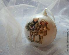 Купить Копия работы Новогодний шар - комбинированный, Новый Год, новогодний подарок, новогодний декор