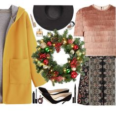Lovely Wreath by galpaian-elisa on Polyvore featuring Raey, Valentino, Jimmy Choo, Witchery, Smith & Cult, Marc Jacobs, Givenchy, Viktor & Rolf and Improvements