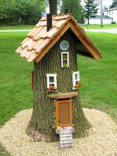 Terrasse Design, Patio Design, Garden Design, Small Cottage Garden Ideas, Garden Cottage, Fairy Tree Houses, Fairy Garden Houses, Large Backyard, Small Patio