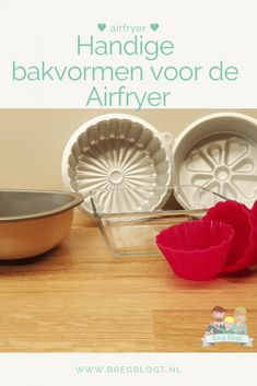Handige bakvormen voor de Airfryer - Breg Blogt Electric Air Fryer, Air Fryer Review, Good Food, Yummy Food, Lidl, Pie Dish, Food Hacks, Serving Bowls, Slow Cooker