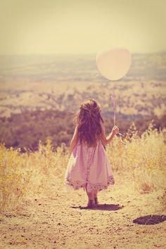 Child balloon pink